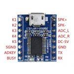 HiLetgo 2pcs JQ6500 Voice Module Sound Module MCU 5 Channel Serial Control MP3 Music Play SPI 3