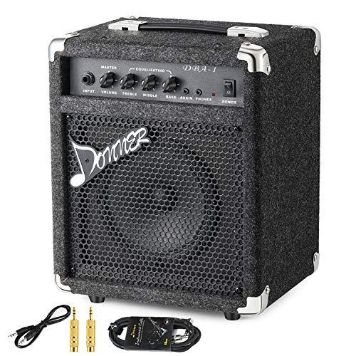 Donner 15W Bass Guitar Amplifier Electric Practice Bass Combo AMP