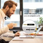 PoP Voice 12.8 Feet Lavalier Lapel Microphone Professional Grade Omnidirectional Mic Condenser Small Mini Perfect for Recording Podcast PC Laptop Android iPhone YouTube Interview ASMR External 1