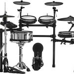 Roland V TD-27KV 5-Piece Electronic Set Mesh Heads, 4 x Cymbals, and TD-27 Sound Module with RH5 Headphone + 3 Pairs of Drum Stick + Gravity Aux Cable and Phone Holder Bundle (TD-27KV-S) 1