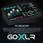 TC-Helicon GO XLR 4-channel USB Streaming Mixer with Voice FX, Effects and Sampler + SR360 Over-Ear Dynamic Stereo Headphones, Audio-Technica ATR1100 Handheld Microphone & Accessory Bundle 1