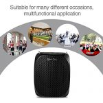 Portable Voice Amplifier SHIDU S258 10W Ultralight Rechargeable Mini Pa Speaker Supports MP3/TF/USB Professional Headset Microphone for Teachers Fitness Instructors and More 3