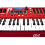 Akai Professional MAX25 | 25-Key USB MIDI Keyboard & Drum Pad Controller with CV/Gate Outputs (8 Pads / 4 LED Touch Faders) 1