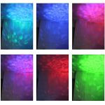 KOOT Christmas Lights Water Wave Projector, RGB 16 Color Party Lights,Water Effect Sound Activated Flash Ripple Lighting LED Holiday Lights with Remote for Disco Halloween Wedding Kids Room 1