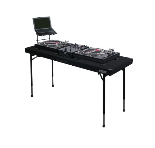 Odyssey Carpeted Folding Dj Table With Adjustable Leg System
