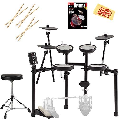 Roland V-Drums Drum Set Bundle with Drum Throne, Drum Sticks