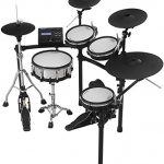 Roland V TD-27KV 5-Piece Electronic Set Mesh Heads, 4 x Cymbals, and TD-27 Sound Module with RH5 Headphone + 3 Pairs of Drum Stick + Gravity Aux Cable and Phone Holder Bundle (TD-27KV-S) 3