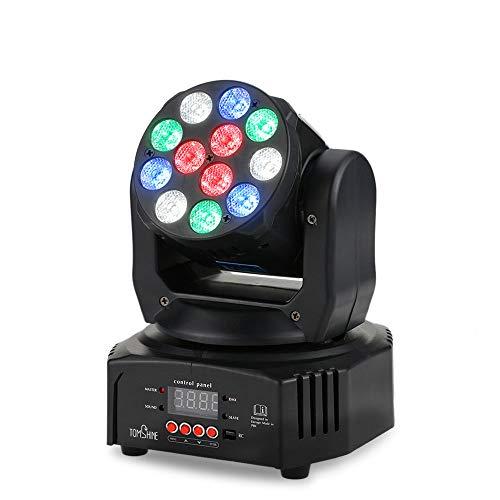 Tomshine 40W DJ Lights 12 LED Moving Head Lights Stage Lights Par