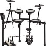 Roland V-Drums TD-1DMK Drum Set Bundle with Drum Throne, Drum Sticks, Fast Track Drum Book, and Austin Bazaar Polishing Cloth 1
