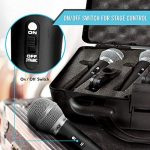 """Pyle 3 Piece Professional Dynamic Microphone Kit Cardioid Unidirectional Vocal Handheld MIC with Hard Carry Case & Bag, Holder/Clip & 26ft XLR Audio Cable to 1/4"""" Audio Connection (PDMICKT34) 2"""