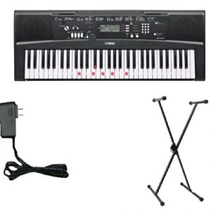 Yamaha Keyboard with Lighted Keys - Includes X-Style Stand and Power Adapter