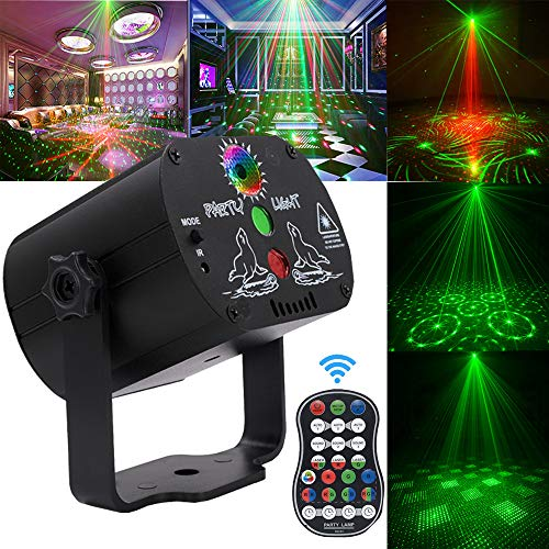 Laser Lights,DJ Disco Stage Party Lights Sound Activated Led Projector Time