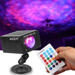 KOOT Christmas Lights Water Wave Projector, RGB 16 Color Party Lights,Water Effect Sound Activated Flash Ripple Lighting LED Holiday Lights with Remote for Disco Halloween Wedding Kids Room
