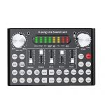 Ouying V10 Live Sound Card Voice Changer Device, with Bluetooth&Sound Effect