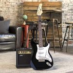 Best Choice Products 39in Full Size Beginner Electric Guitar Starter Kit w/Case, Strap, 10W Amp, Strings, Pick, Tremolo Bar (Black) 1