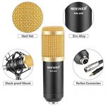 Neewer NW-800 Professional Studio Broadcasting & Recording Microphone Set Including (1)NW-800 Professional Condenser Microphone + (1)Microphone Shock Mount + (1)Ball-type Anti-wind Foam Cap + (1)Microphone Power Cable (Black) 3