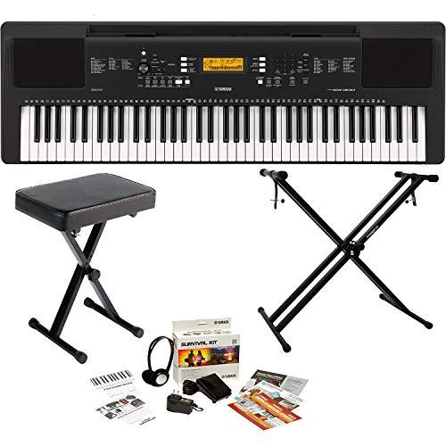 Yamaha 76-Key Portable Digital Keyboard, a Double Braced X-Style Keyboard Stand