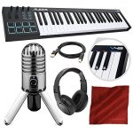 Alesis V49 49-Key USB MIDI Keyboard & Drum Pad Controller with Samson Meteor Mic USB Microphone Deluxe Bundle
