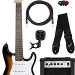 Fender Squier 3/4 Size Kids Mini Strat Electric Guitar - Brown Sunburst Bundle