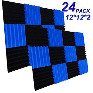 "24 Pack Acoustic Foam Panels 2"" X 12"" X 12"" Soundproofing Studio Foam Wedge"