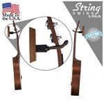 String Swing Ukulele Wall Mount Stand for Mandolin Ukele – Concert Pineapple Soprano Tenor and Baritone Compatible – Case Alternative Kit for Home or Studio – Black Walnut Hardwood CC01UK-BW 3