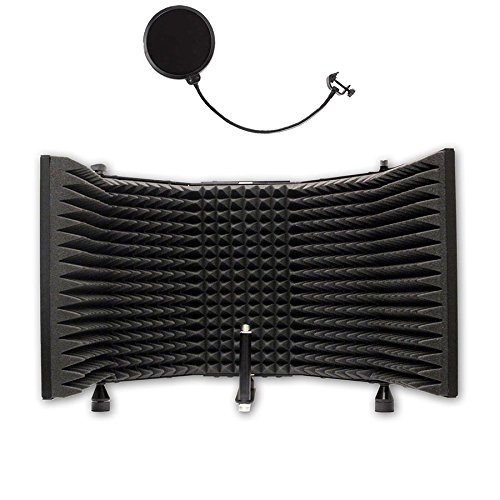 AxcessAbles Desktop Recording Studio Microphone Isolation Shield