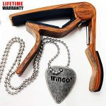 WINGO Quick Change Wooden Guitar Capo for Acoustic Guitar, Electric Guitar
