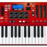 Akai Professional MAX25 | 25-Key USB MIDI Keyboard & Drum Pad Controller with CV/Gate Outputs (8 Pads / 4 LED Touch Faders) 2
