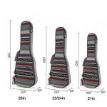 HOT SEAL 10MM Adjustable & Comfortable Durable Ethnic Ukulele Case Bag Bohemia style (23/24in, Bohemia NO.3) 1
