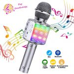 ShinePick Bluetooth Karaoke Microphone, 4 in 1 Wireless Microphone Handheld