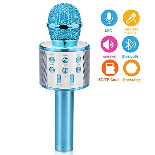 Gifts for 4 5 6 7 8 9 10 Year Old Kids, Touber Wireless Portable Handheld Karaoke