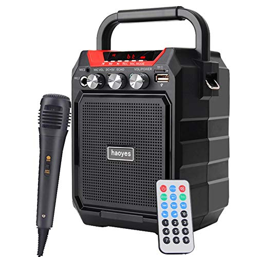Portable PA System Bluetooth Speaker with Wired Microphone
