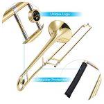 Eastar Bb Tenor Slide Trombone Brass with Hard Case Mouthpiece Cleaning Kit & Care Kit Standard Student Beginner Trombone ETB-330 3