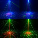 Laser Lights,DJ Disco Stage Party Lights Sound Activated Led Projector Time Function with Remote Control for Christmas Halloween Decorations Gift Birthday Wedding Karaoke KTV Bar 1