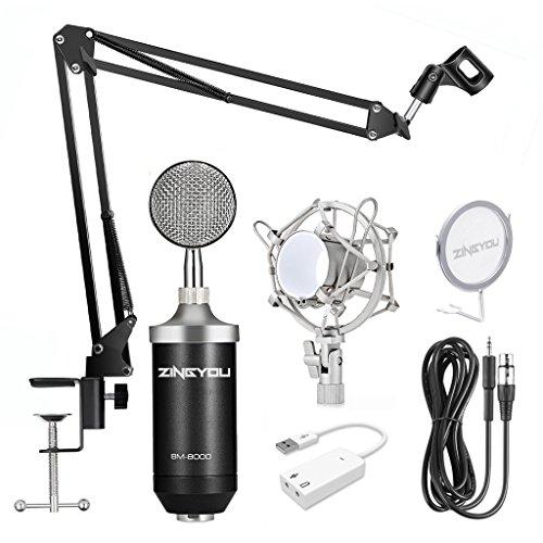 ZINGYOU Professional Studio Condenser Microphone Set, XLR Condenser