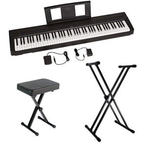 Yamaha P45 88-Key Weighted Action Digital Piano with Sustain Pedal