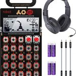 Teenage Engineering PO-28 Pocket Operator Robot Lead Synthesizer/Sequencer Bundle with Samson SR350 Over-Ear Closed-Back Headphones, Blucoil 3-Pack of 7″ Audio Aux Cables, and 4 AAA Batteries