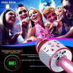 mockins Wireless Bluetooth Karaoke Microphone with Built In Bluetooth Speaker All-in-One Karaoke Machine | Compatible with Android & Ios Iphone – Purple Color 3