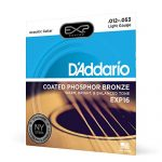 D'Addario Coated Phosphor Bronze Acoustic Guitar Strings, Light