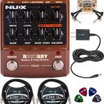 NUX Roctary Force Rotary Speaker Multi-Effects Pedal Bundle with Blucoil Slim
