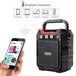 Portable PA System Bluetooth Speaker with Wired Microphone, Rechargeable Karaoke Machine with FM Radio, Audio Recording, Remote Control, Supports TF Card/USB, Perfect for Party 1