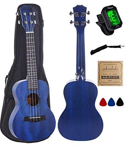 Vizcaya Concert Ukulele Mahogany 23 inch with blue stain finish