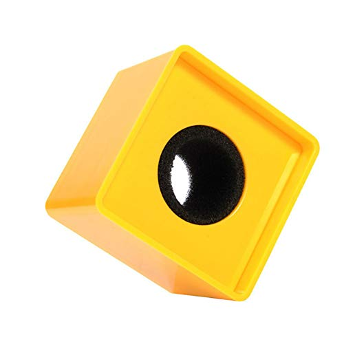 Aysekone Portable Yellow ABS Injection Molding Square Cube Shaped Interview Mic