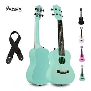 FUYXAN Concert Ukulele with Accessories Nylon Strings Strap