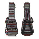HOT SEAL 10MM Adjustable & Comfortable Durable Ethnic Ukulele Case Bag