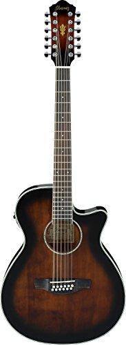 Ibanez AEG 12-String Acoustic-Electric Guitar Dark Violin Sunburst