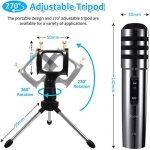Recording Microphone, EIVOTOR 3.5mm Condenser Microphone Plug and Play, PC Microphone with Filter Suitable for Podcasting, Voice Recording, Skype, YouTube, Games, Laptop, Computer, Phone 2