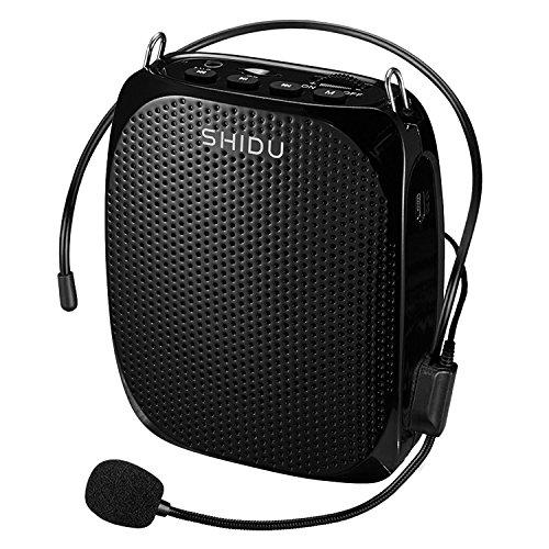 Portable Voice Amplifier SHIDU 10W Ultralight Rechargeable Mini Pa Speaker