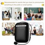 W WINBRIDGE Voice Amplifier Loudspeaker with LED Display and Head Set Microphone Lightweight Portable Rechargeable Multi-functional for teachers, instructors, tour guides etc 10W 3