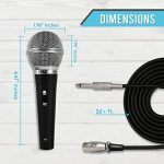 """Pyle 3 Piece Professional Dynamic Microphone Kit Cardioid Unidirectional Vocal Handheld MIC with Hard Carry Case & Bag, Holder/Clip & 26ft XLR Audio Cable to 1/4"""" Audio Connection (PDMICKT34) 1"""